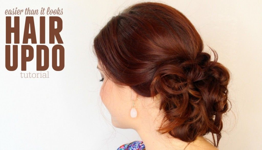 The easier-than-it-looks Messy Updo! #updotutorial