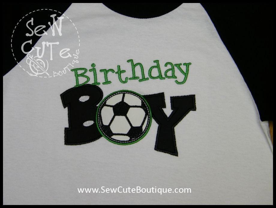 28a5785d3e2 Pin by Sew Cute Boutique on Fun Custom Birthday Shirts   Soccer ...