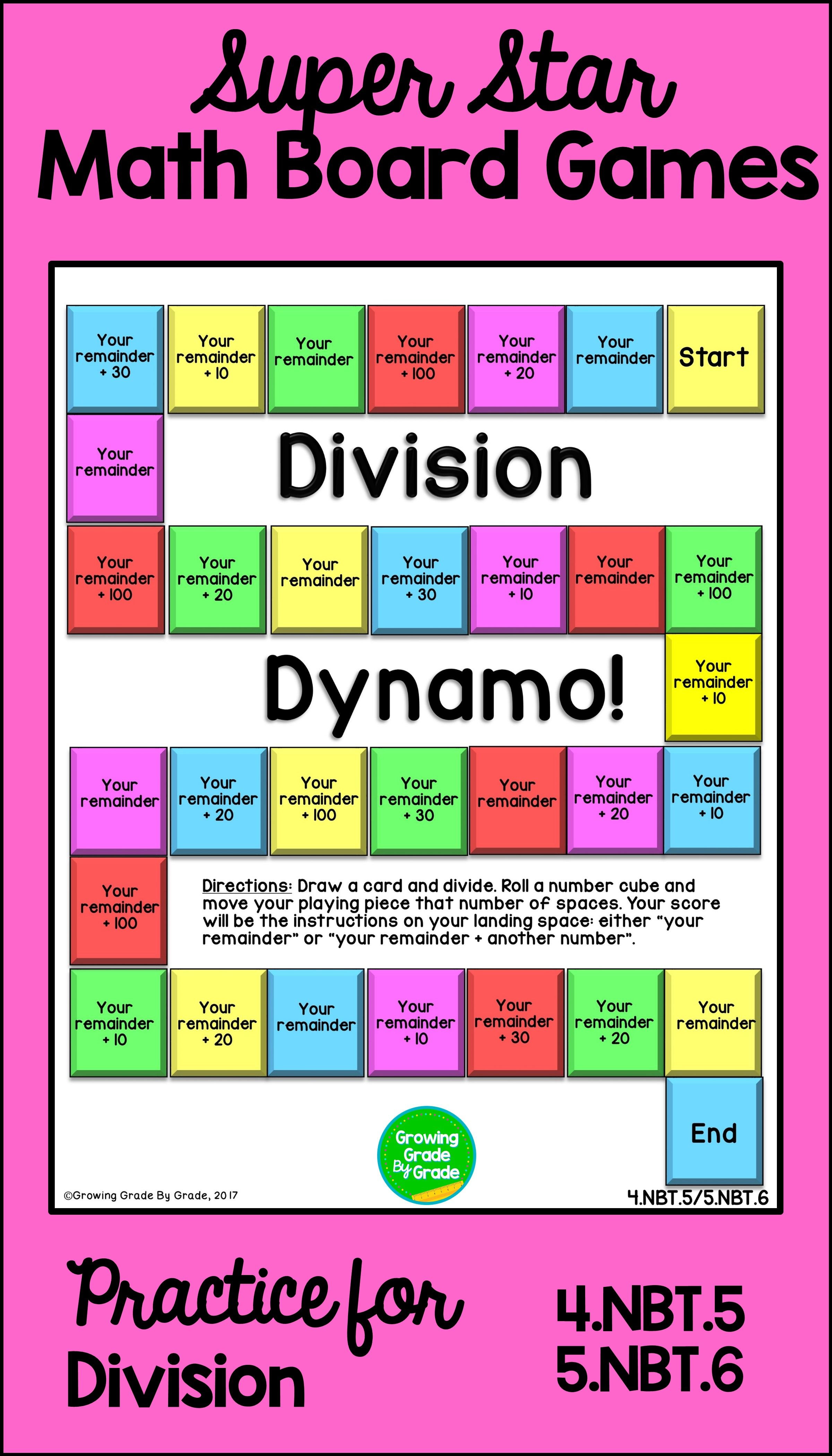 Math Board Games Common Core Math Math Math Skills Practice