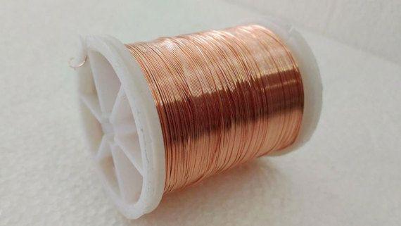 Craft supply Copper wire, 28 Gauge wire, copper craft wire, 50 ...