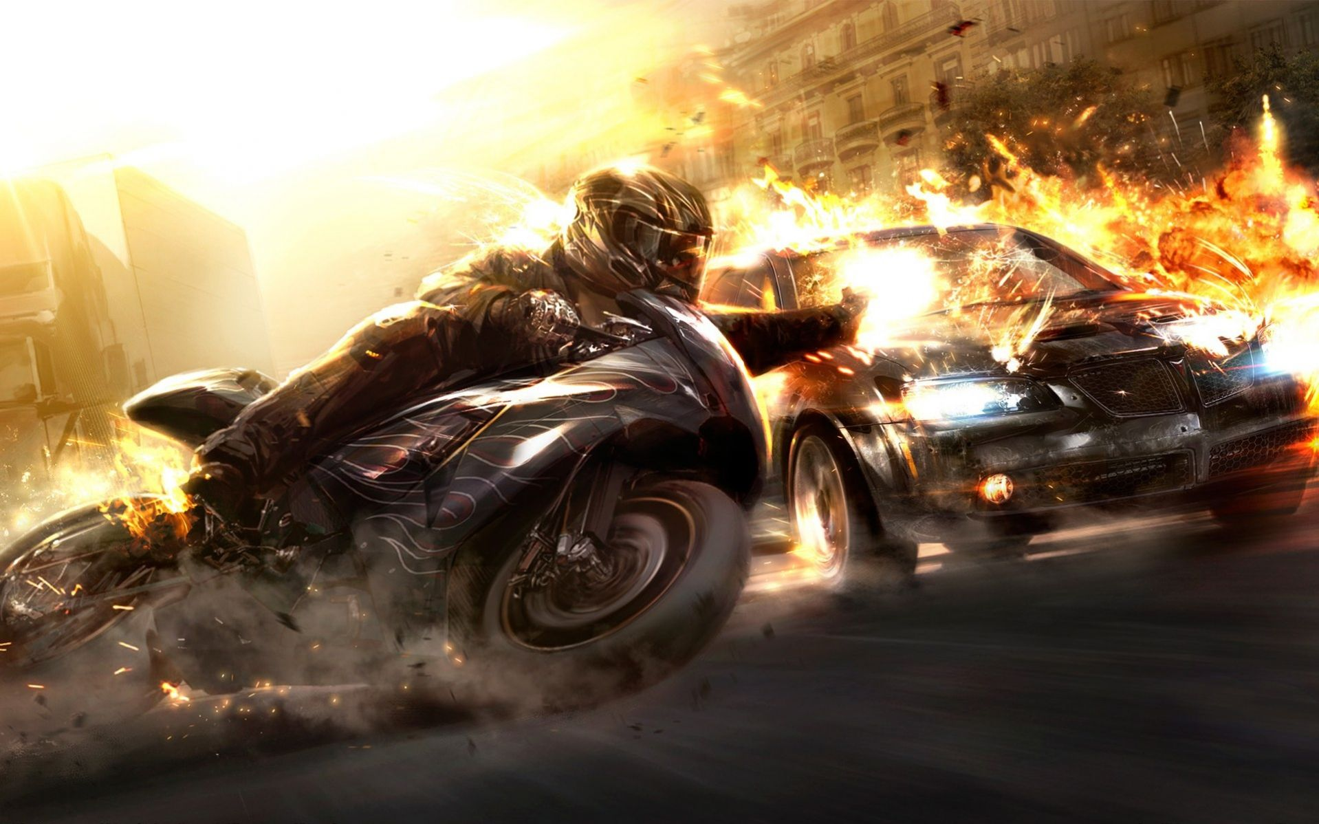Wheelman Wallpaper Car Wallpapers Motorcycle Wallpaper
