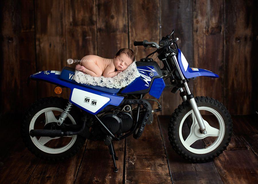 Newborn Baby On Dirt Bike Future Bambini Baby Boy