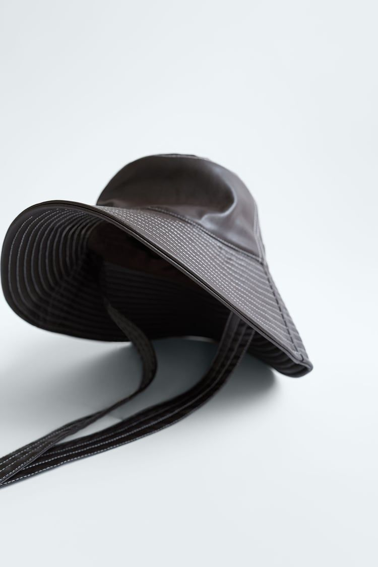 Large Links Necklace Zara United States Leather Bucket Hat Faux Leather Large Link Necklace