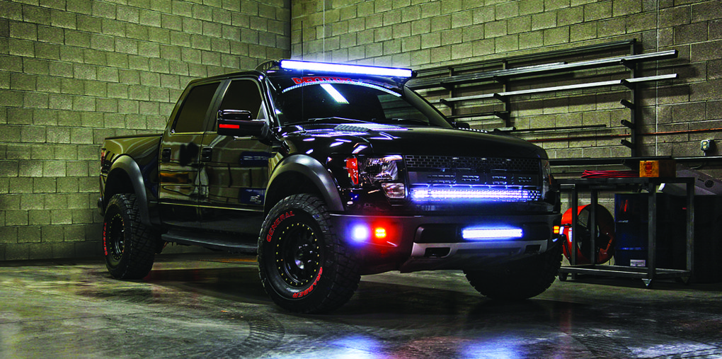 Rigid Lights on Ford Raptor by Rigid Industries LED Lighting - Learn more at www.motoroso.com | See more about Raptors, Ford Raptor and Ford.