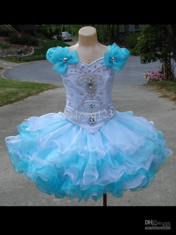 Wholesale - colorful Angel Pageant Occasion Dress Ball Gown Princess ...