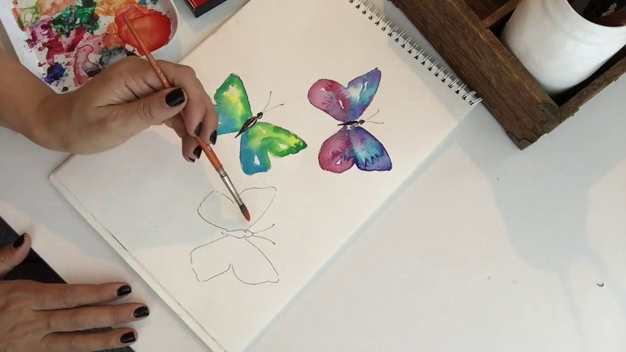 How To Paint A Watercolor Butterfly Butterfly Watercolor