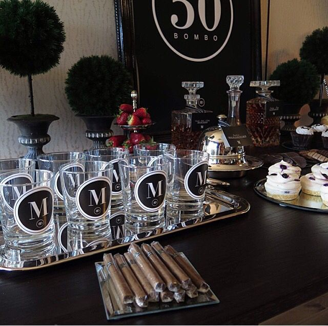Masculine male birthday decor black white silver for  th party also rh pinterest