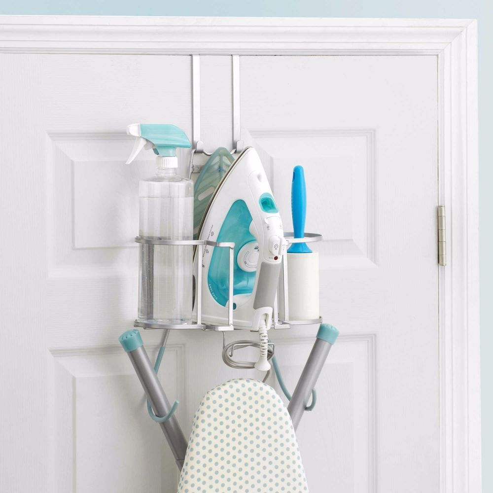 New Home Wall Mount Storage Over Door Holder Laundry Iron Caddy