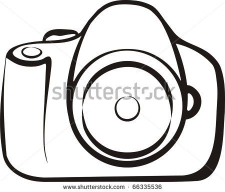 Simple Camera Outline WArn0tB6 Flash Art AR