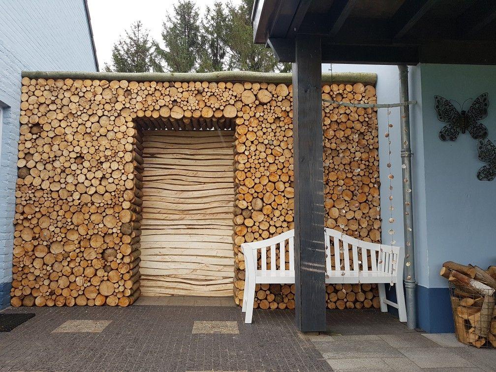 Houten Scheidingswand Tuin : Rond hout wilgenhout scheidingswand tuin hout