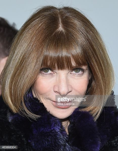 ... Editorinchief of American Vogue Anna Wintour attends the Calvin Klein Collection fashion show during MercedesBenz Fashion ...