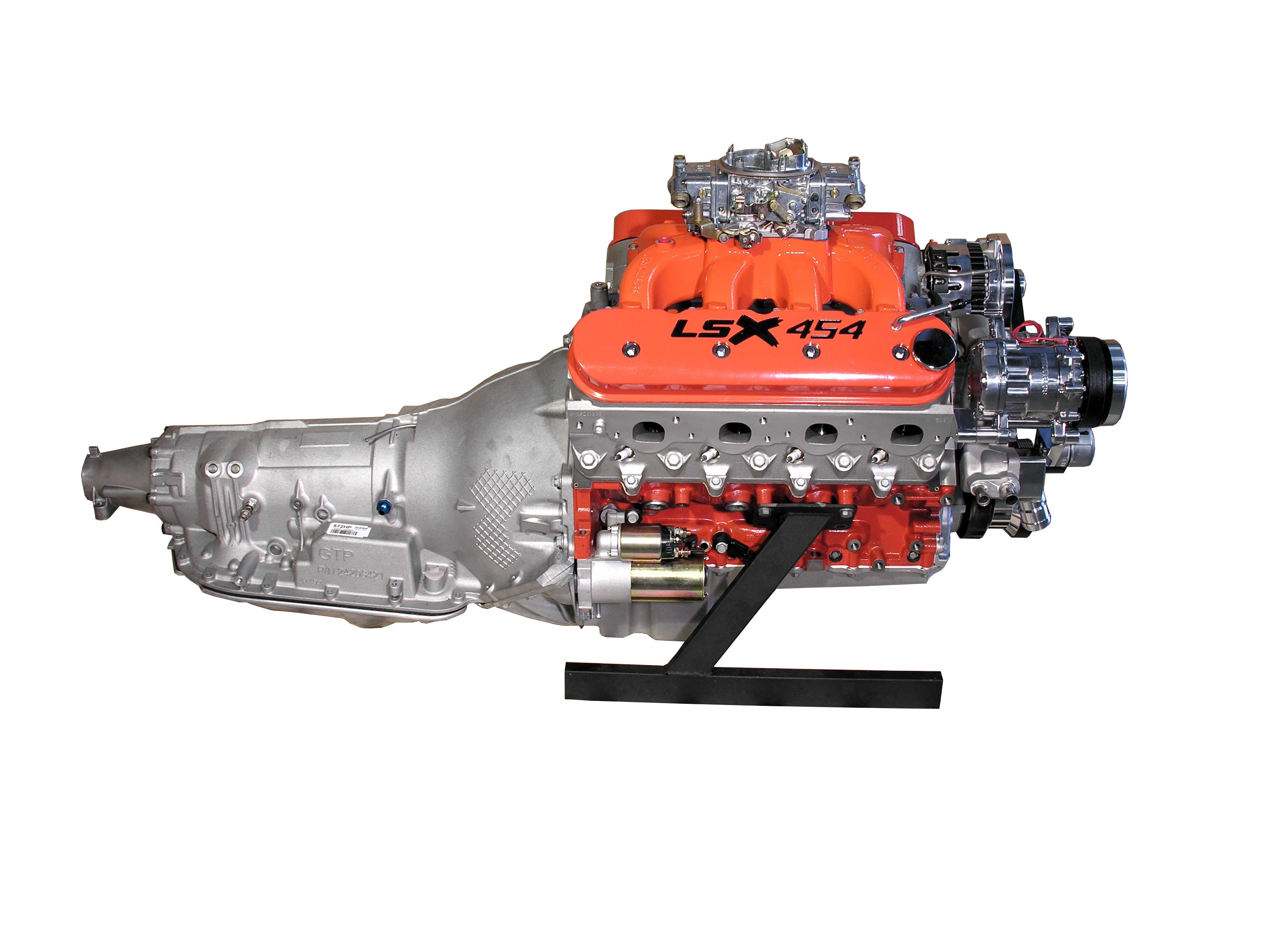 Lsx 454 engine with holley carb and 4l85e transmission 650 hp spsengines com