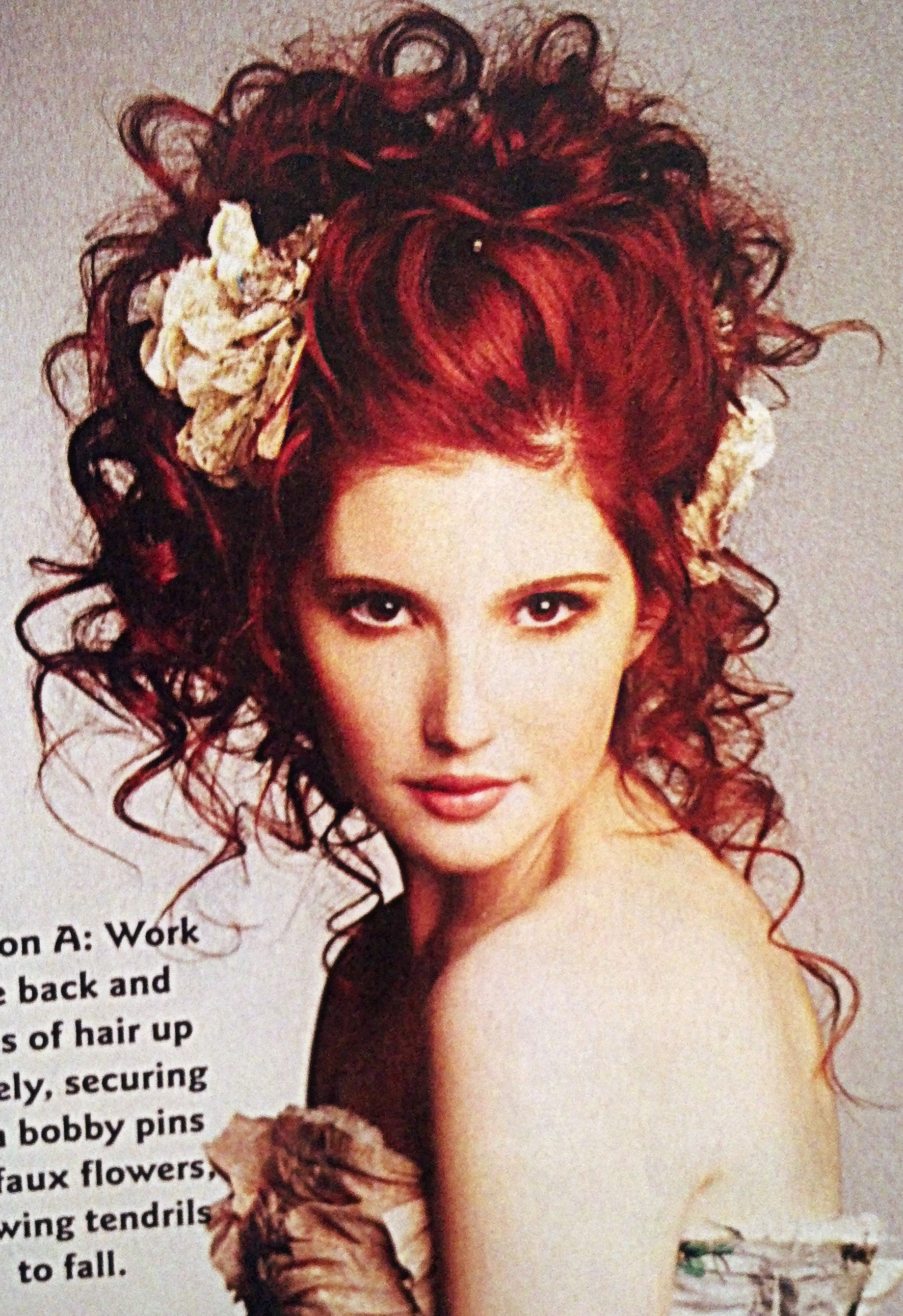 Wild yet formal hairstyle itus gorgeous but i canut figure out