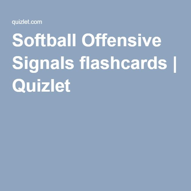 Softball Offensive Signals flashcards Quizlet Softball - baseball scoresheet