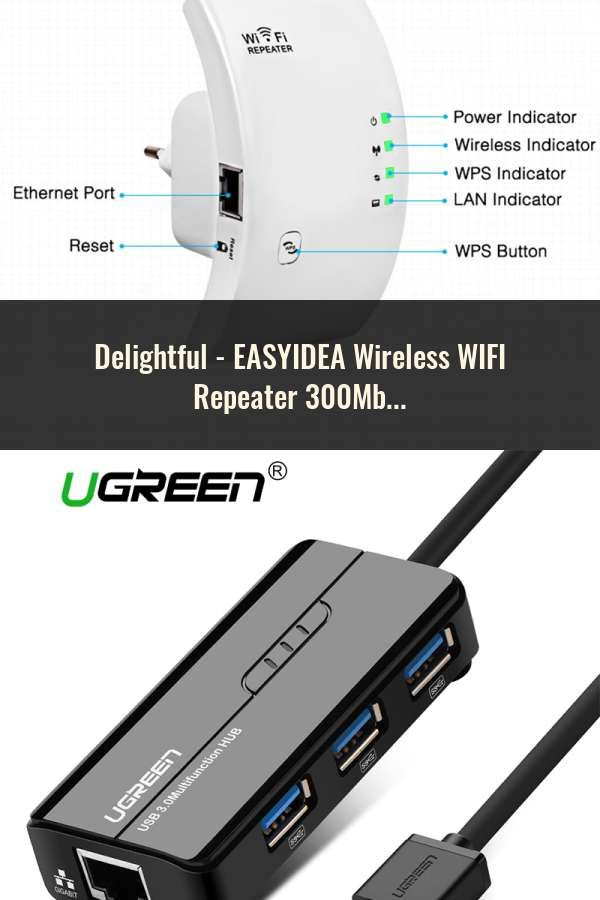 EASYIDEA Wireless WIFI Repeater 300Mbps Network Antenna Wifi