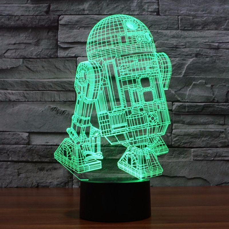 Amazing 3d Star Wars R2d2 Led Lamp Night Light Led Night Light 3d Light