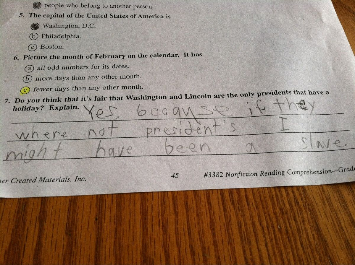 Found my brothers old worksheet for school. We\'re a white family in ...