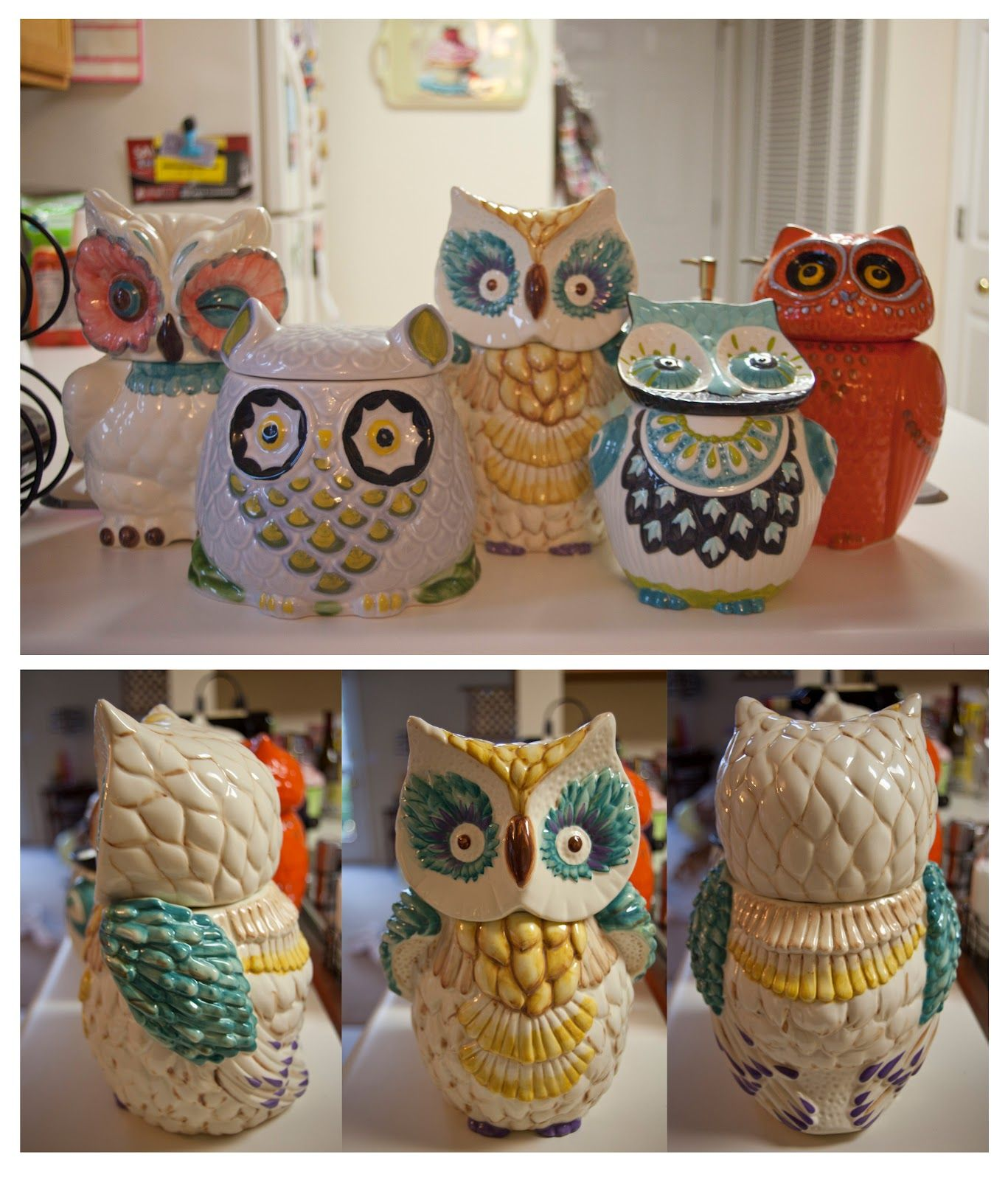 Owl Cookie Jars! After Looking At Pier 1 We Think The New Kitchen Will