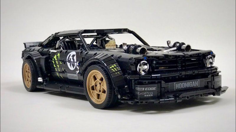 Here S Ken Block S Ford Mustang Hoonicorn Built From Lego Blocks Ford Mustang Lego Technic Lego Cars