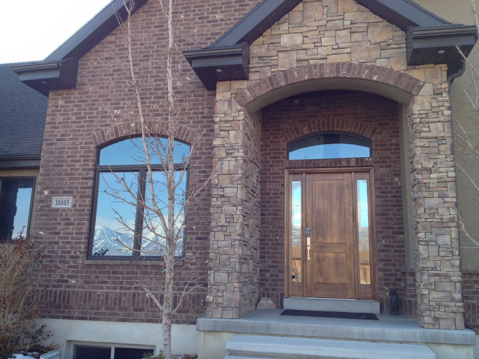 Red Brick And Stone Homes Using Brick Stone On Your Home