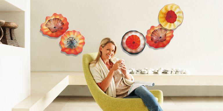 Viz Art - Hand blown glass wall art http://www.contemporarylifestyles.com