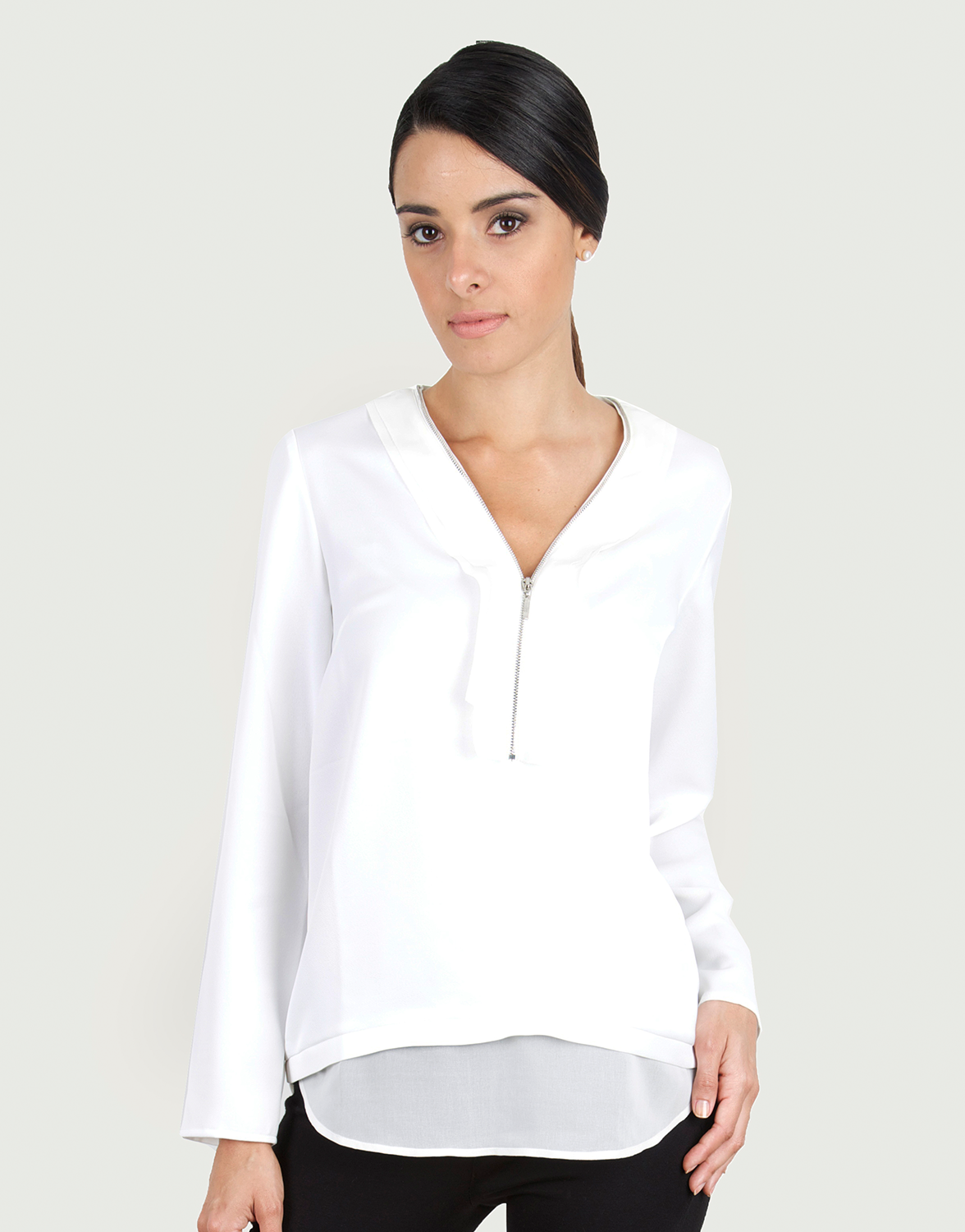 Guayabita Womens Lara Blouse Large White * More info could be found at the  image url.