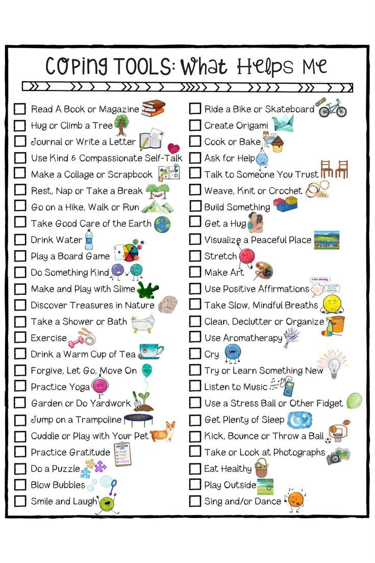 Fun Art Worksheets : Kids coping skills school counseling lesson posters art