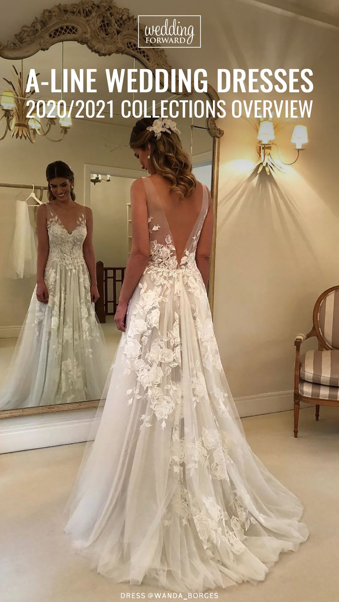 A Line Wedding Dresses 2020 2021 Collections Wedding Dresses Wedding Dresses Lace Bridal Dresses Lace [ 1920 x 1080 Pixel ]