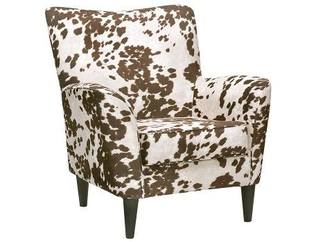 Cora Collection Cow Print Accent Chair In 2019