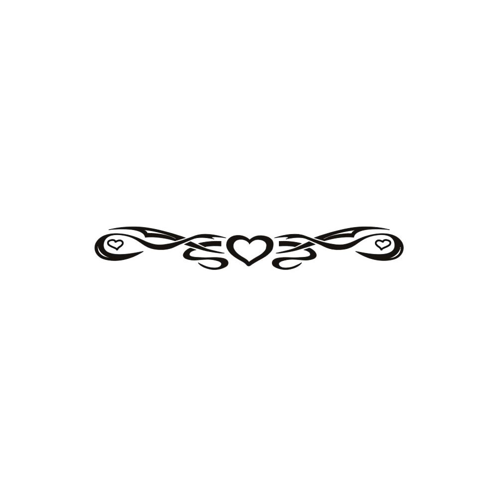 88539320d One Heart Arm Band Temporary Tattoo 1.5x9 | Body Candy Body Jewelry
