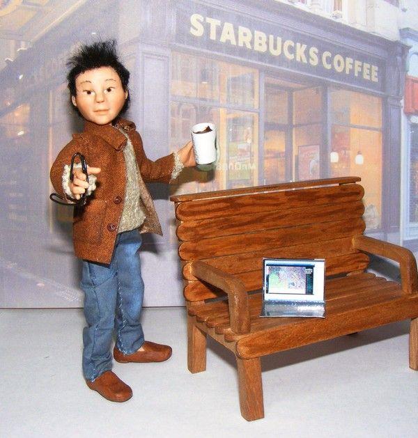 "Ooak artist original Asian doll, ""Koji"", by The Rogue Fairy."