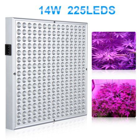 Ktaxon 225 Led Grow Light Hydroponic Lamp Blue Red 14 Watts Quad Band Plant Light For Greenhouse Medical And Indoor Grow Lights For Plants Grow Lights Led Grow Lights