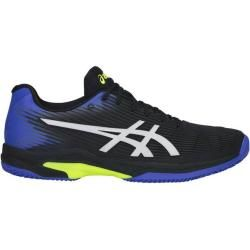Asics Herren Tennisschuhe Solution Speed Ff Clay, Größe 40 ½ In Black/illusion Blue, Größe 40 ½ In B #scarpedaginnasticadauomo