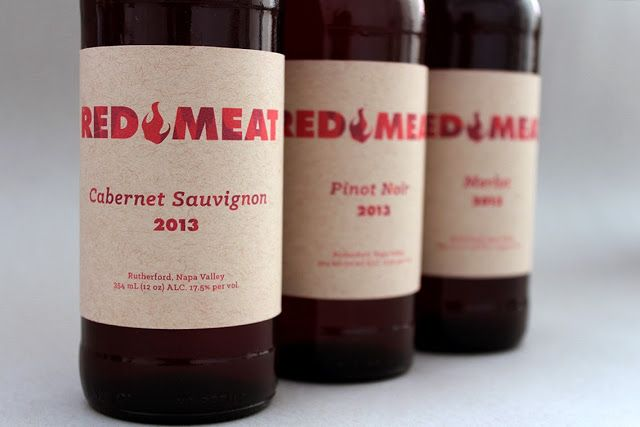 label / Red Meat wine