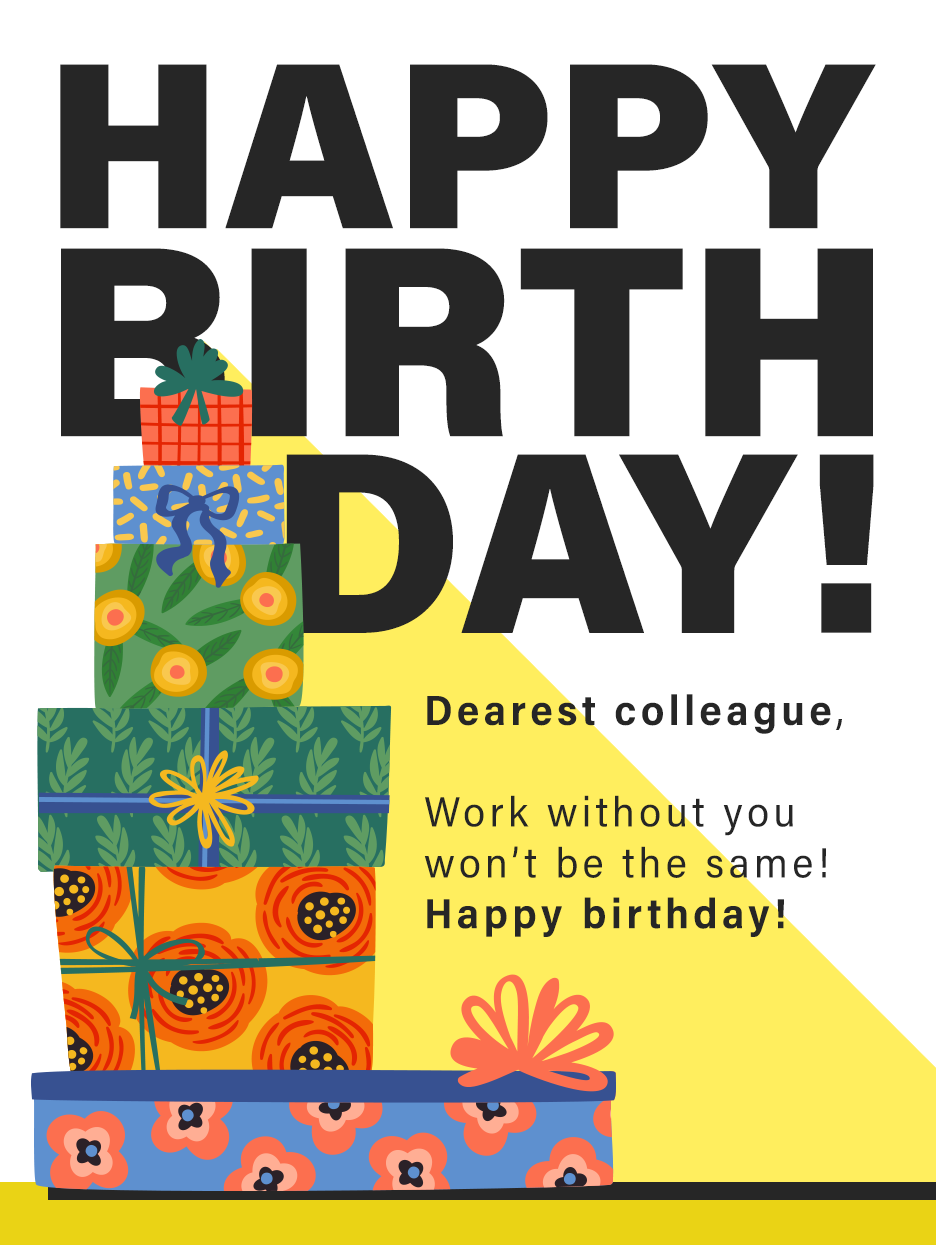 Exiting Fun Birthday Cards For Co Workers Birthday Greeting Cards By Davia Birthday Greeting Cards Birthday Cards Coworkers Birthday