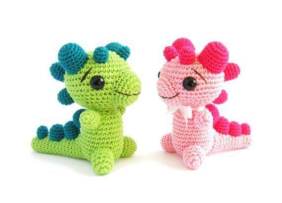 Amigurumi Easy Crochet Patterns : Crochet pattern rattle baby dragon amigurumi animal