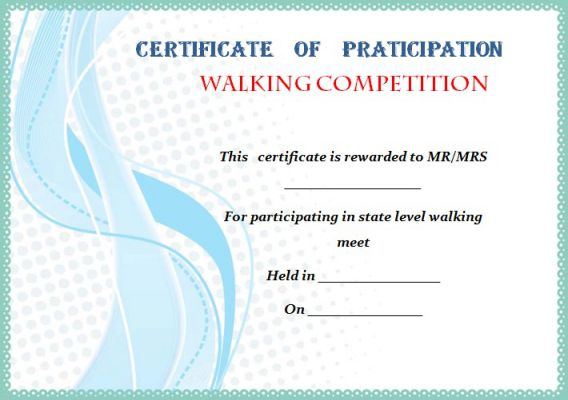 Walking Certificate Templates 4 Templates Example Templates Example Certificate Templates Free Certificate Templates Funny Awards Certificates