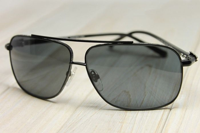 0b44c6870f57 CHROME HEARTS - CROSS BAR AVIATOR  PORK SWORD  MATTE BLACK SUNGLASSES