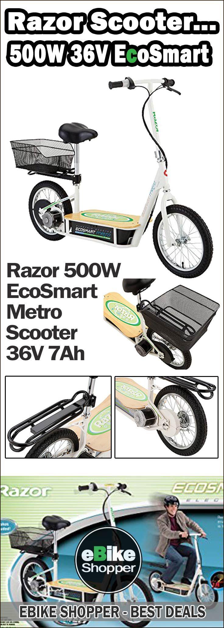 Razor Ecosmart Metro Electric Scooter 500w 36v 7ah White