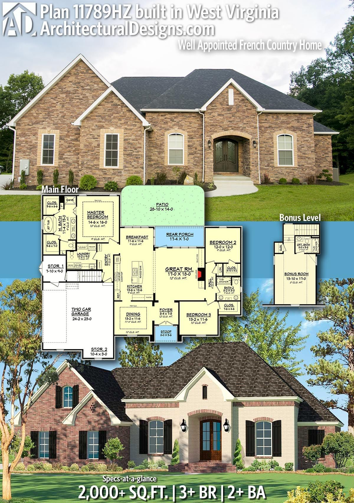 Plan 11789hz Well Appointed French Country Home In 2020 Country House Plans New House Plans French Country House Plans