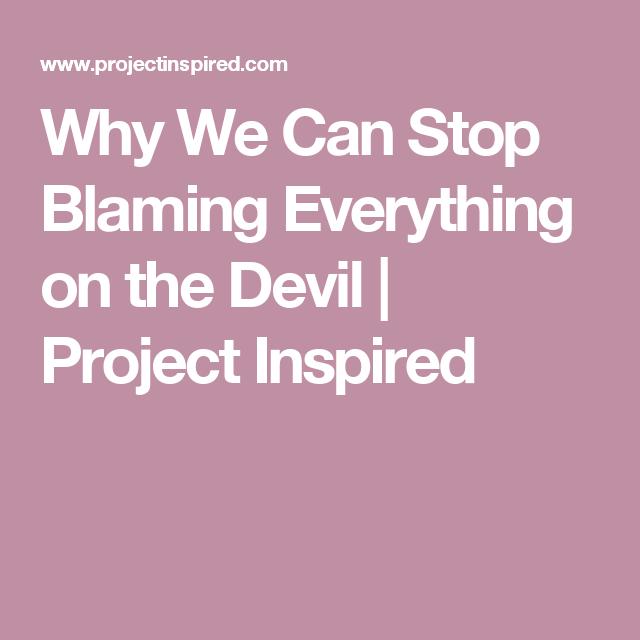 Blame the Devil