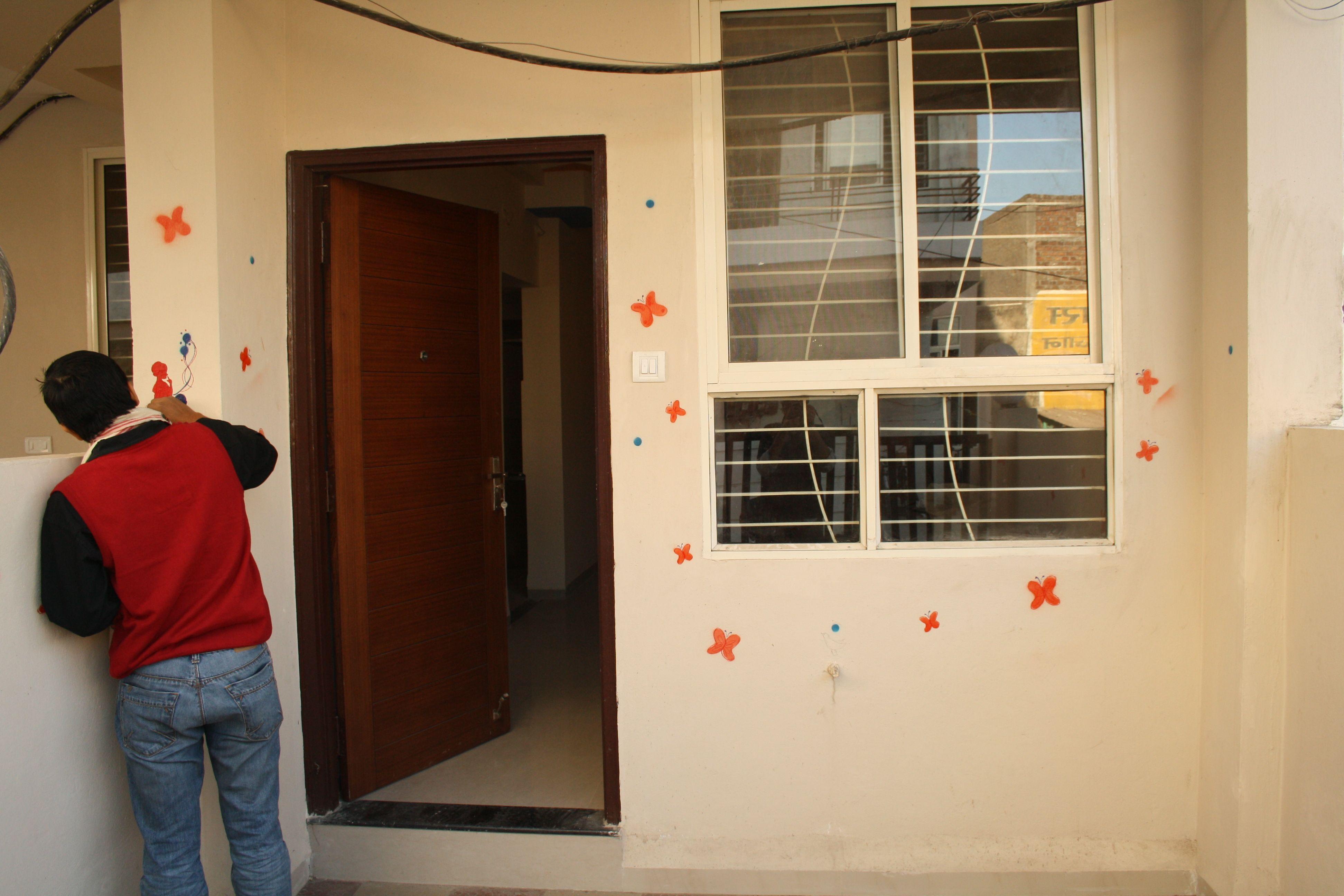 Sumesh's dedication towards my sweet home...