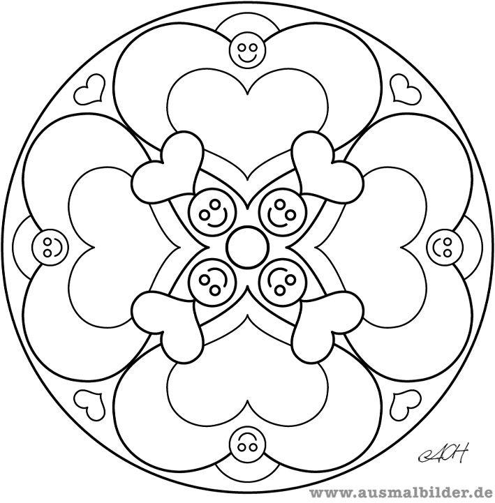 Mandala Herzen Als Pdf Ajilbabcom Portal | Clever crafts | Pinterest ...