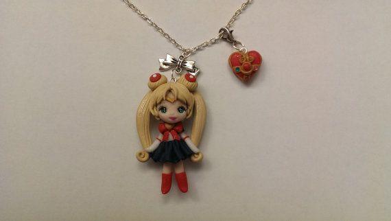 Collana fimo Sailor Moon di Julygia su Etsy