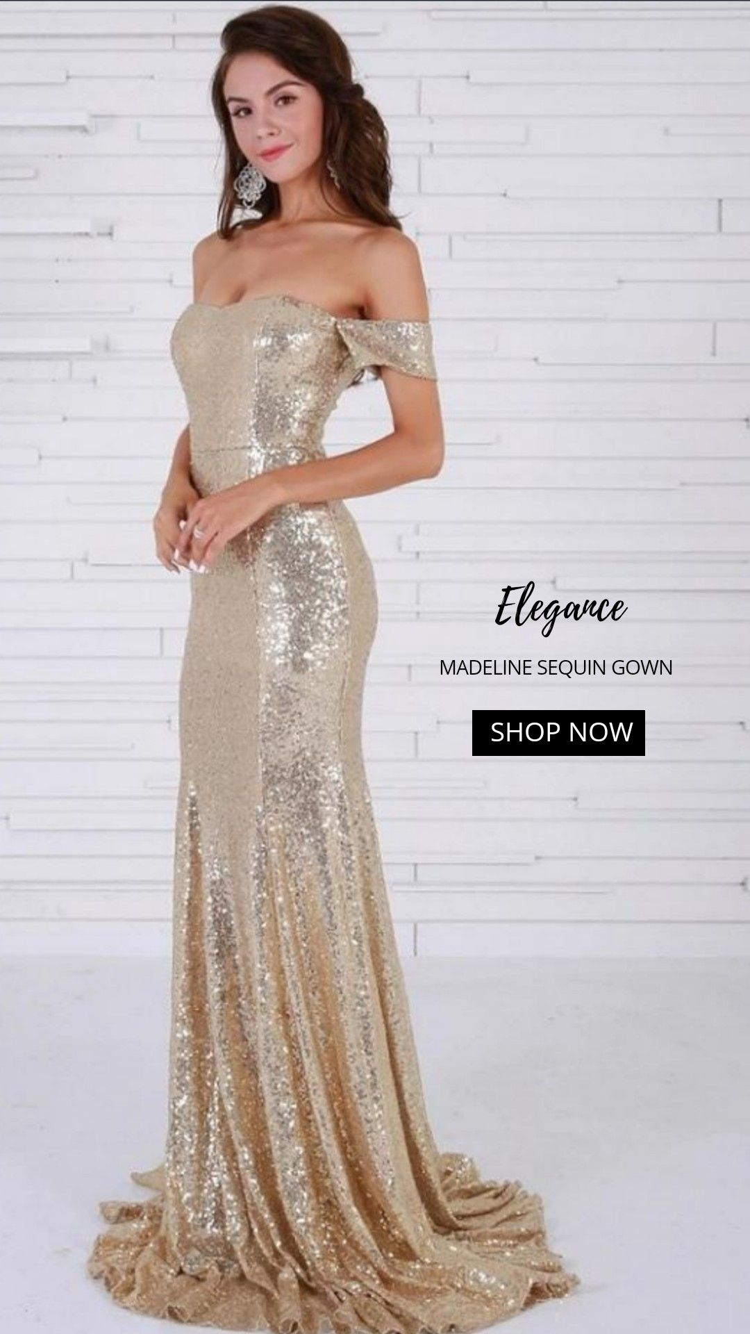 Madeline sequin gown in top glam shop sequin dresses