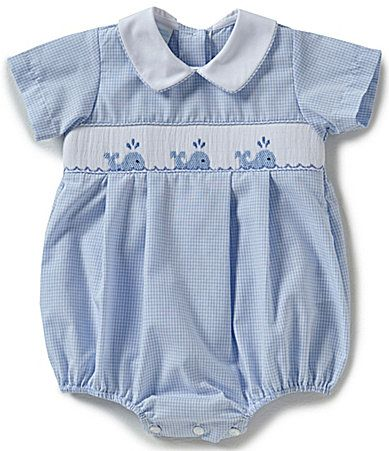 5ad75bff2 Edgehill Collection Baby Boys 39 Months Whale Smocked Shortall ...