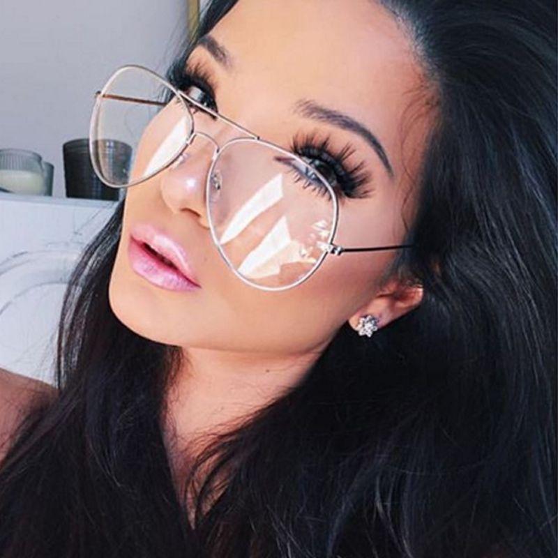 6b06bd2888627 2016 Aviação Liga Óculos de Armação de Metal óculos de Sol Clássicos óculos  Óptica Transparente Limpar Lens Homens Mulheres vidros do Olho Óptico oculos  de ...