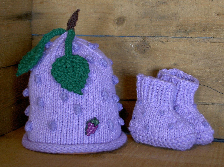 Grape Baby Hat Handmade Knit Fruit Hat For By Farmfreshbabyhats 20 00 Etsy Handmade Knitting Baby Hats Knitting Baby Hats