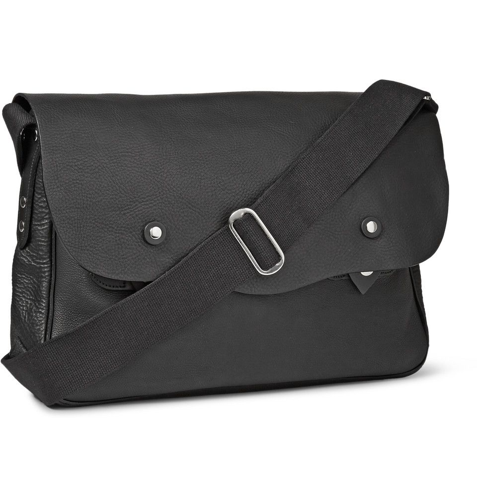 Bill Amberg - Hunter Grained-Leather Messenger Bag | MR PORTER