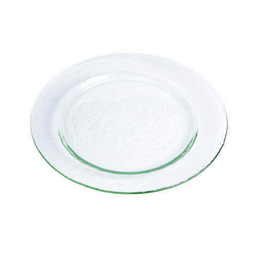 Clear Hammered Glass Dishes from Rentals Unlimited: Dinner Plate = $0.55 each; Salad/Dessert = $0.50 each